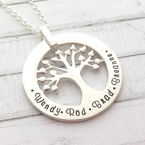 Luxury Family Tree in Sterling Silver
