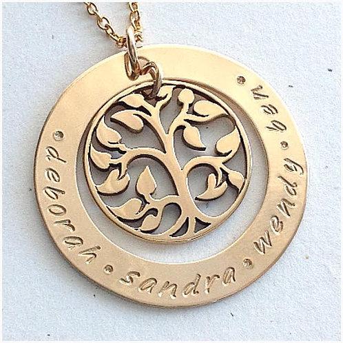 Gold Filagree Family Tree