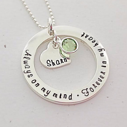 Circle of Life with heart charm