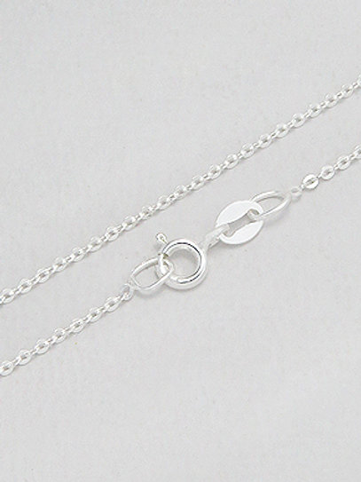 Sterling Silver Fine Cable Chain .8mm