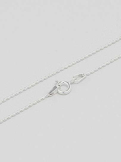 Sterling Silver Seed Chain 1mm