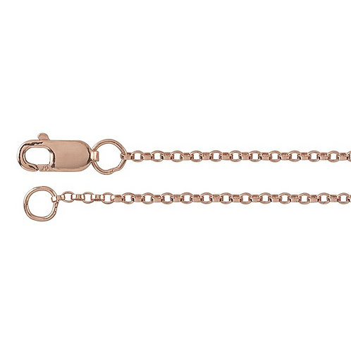 Rose Gold Flat Rolo Chain 1.3mm
