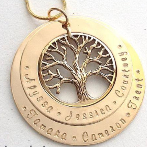 Gold 2 Layer Family Tree (Large)
