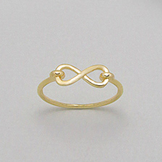 Infinity Ring in 14K Yellow Gold Fill