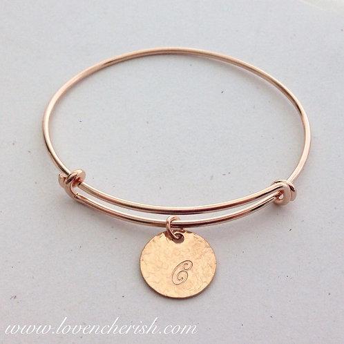 Rose Gold Adjustable Bangle