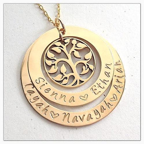 Gold 2 Layer Filagree Family Tree
