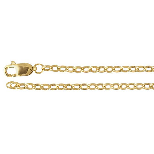 Gold Fill Rolo Chain 2.4mm