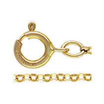 Gold Fill Flat Rolo Chain 1.1mm