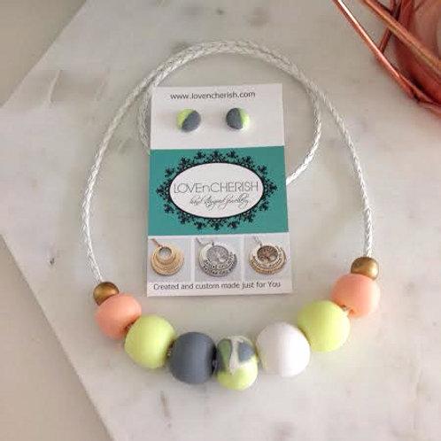 Summer Daze Bead Necklace & Earring Set