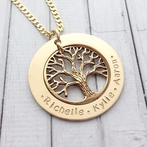 Gold Family Tree Large