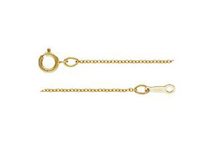 Gold Fill Fine Cable Chain 1mm