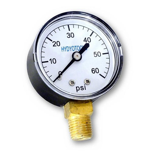 Bottom Mount Pressure Gauge 60 PSI