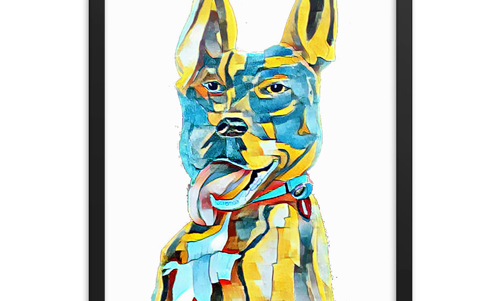 Framed poster - Abstract - Stella the Wonder Dog