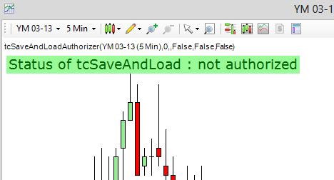NinjaTrader parameter settings authorise