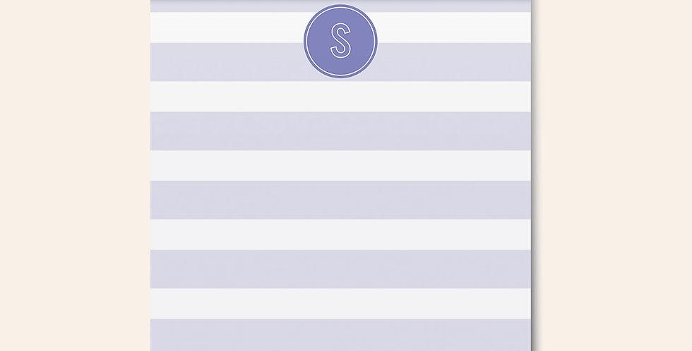 Striped Monogram Notepad • Purple