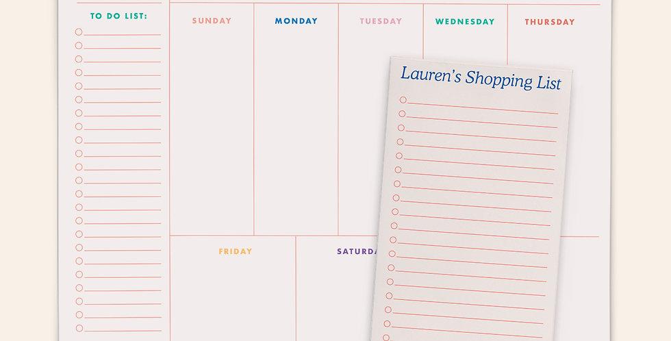 Mother's Day Notepad Bundle 4 • Retro Rainbow
