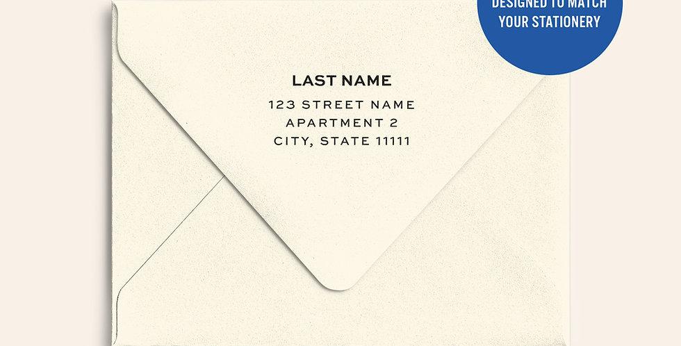 Return Address Printed Colored Envelope- Cream Puff