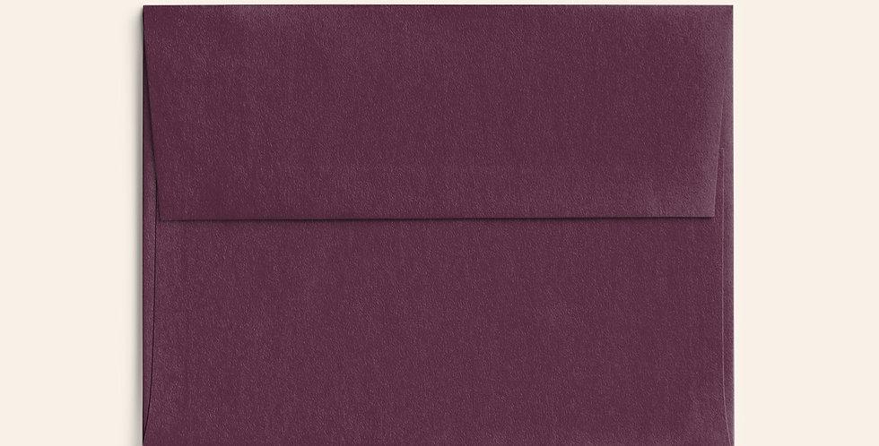 Colored Envelope - Claret