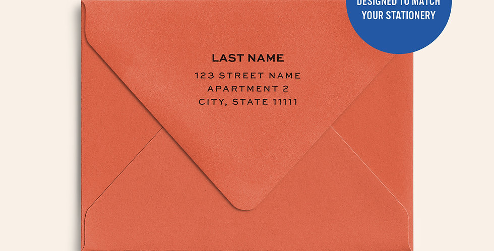 Return Address Printed Colored Envelope- Tangy Orange