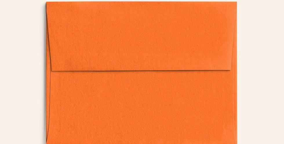 Colored Envelope - Mandarin Orange