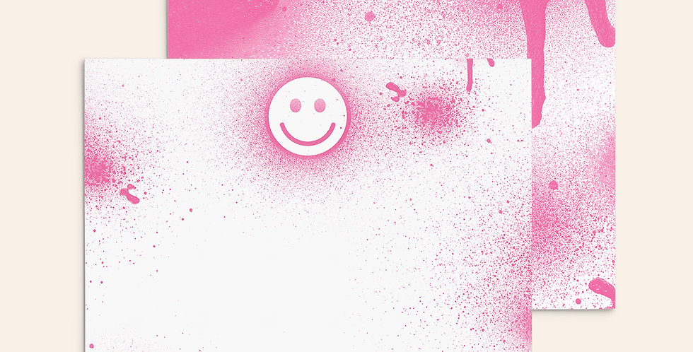 Spray Paint Smiley ▪ Pink