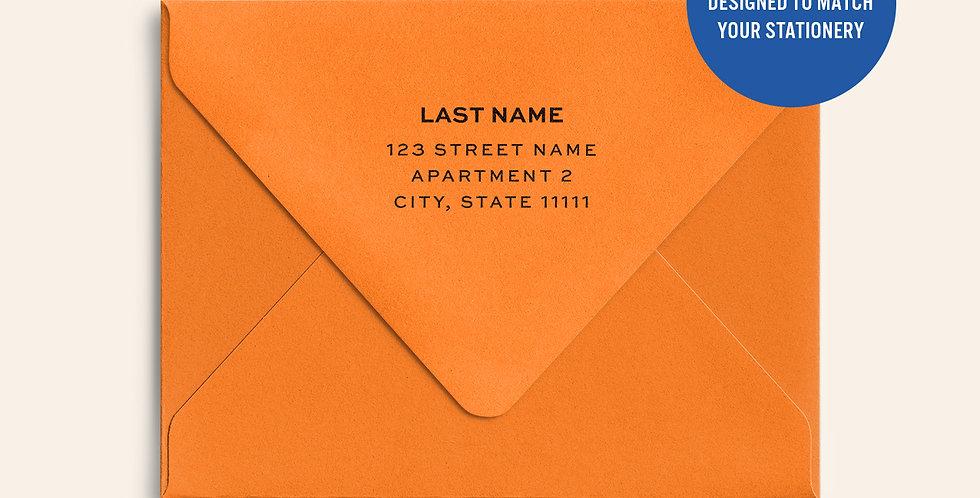 Return Address Printed Colored Envelope-Mandarin