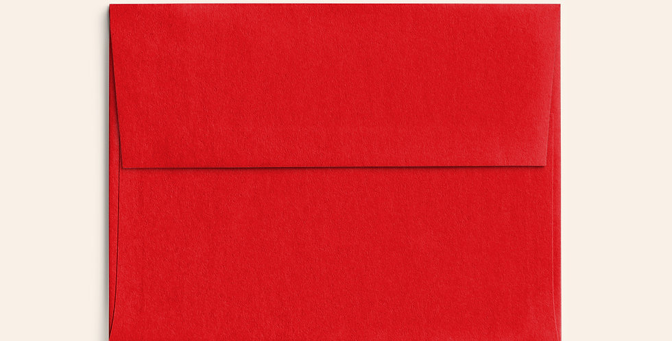 Colored Envelope - Bright Red
