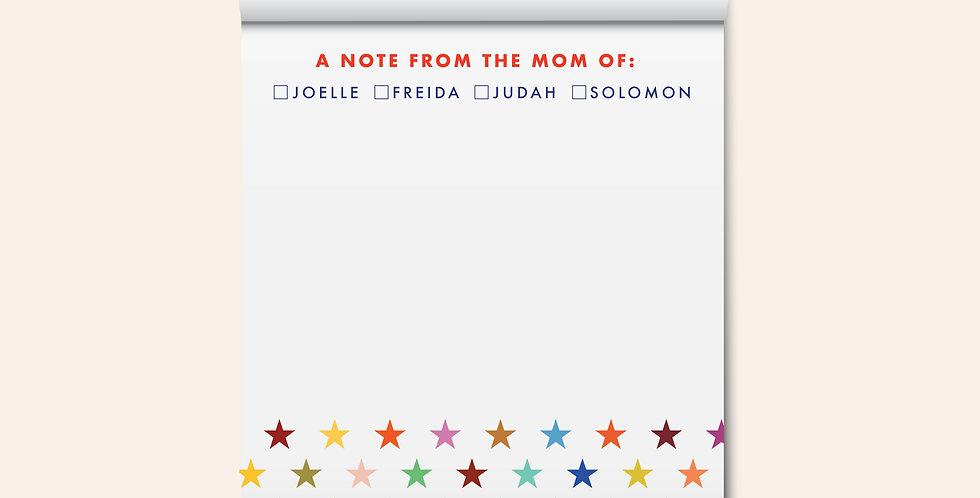 Mom of Notepad • Rainbow Stars