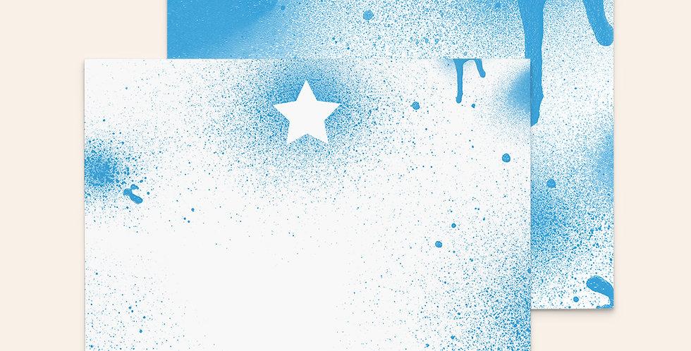 Spray Paint Star • Blue