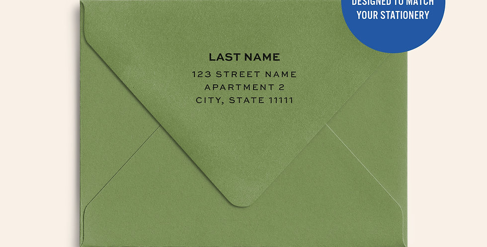 Return Address Printed Colored Envelope-Jelly Bean Green
