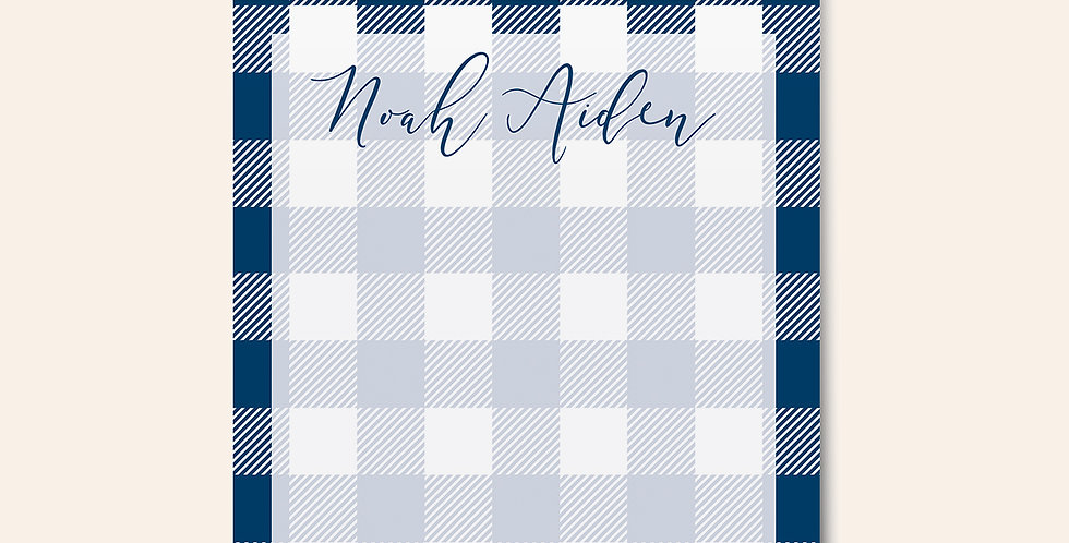 Gingham Notepad • Blue