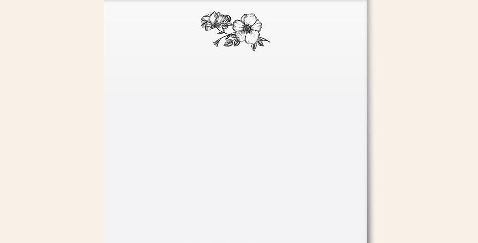 Floral Crest Notepad • Grey