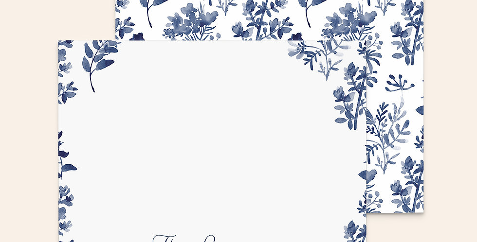 Hand Painted Florals ▪ Navy