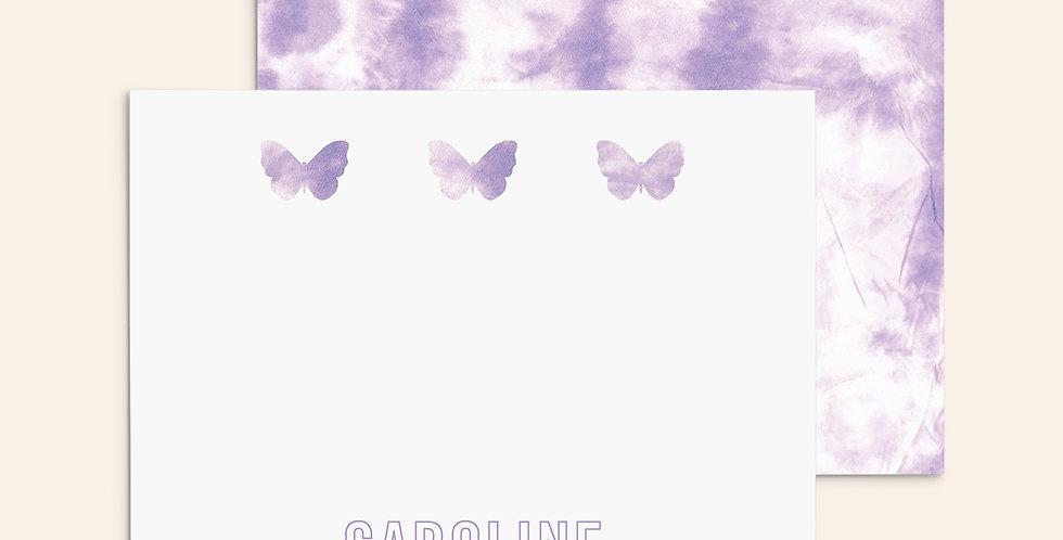 3 Butterflies ▪ Purple Tie Dye