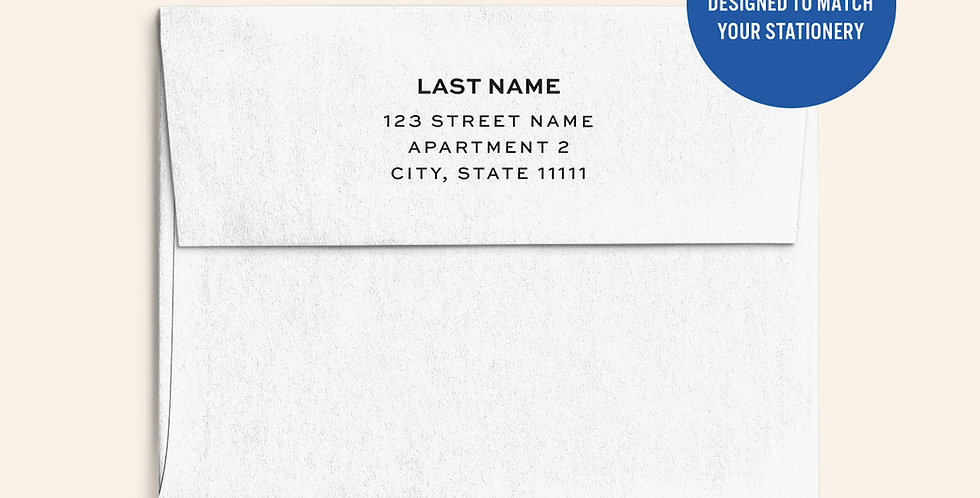 Return Address Printed Envelopes- White
