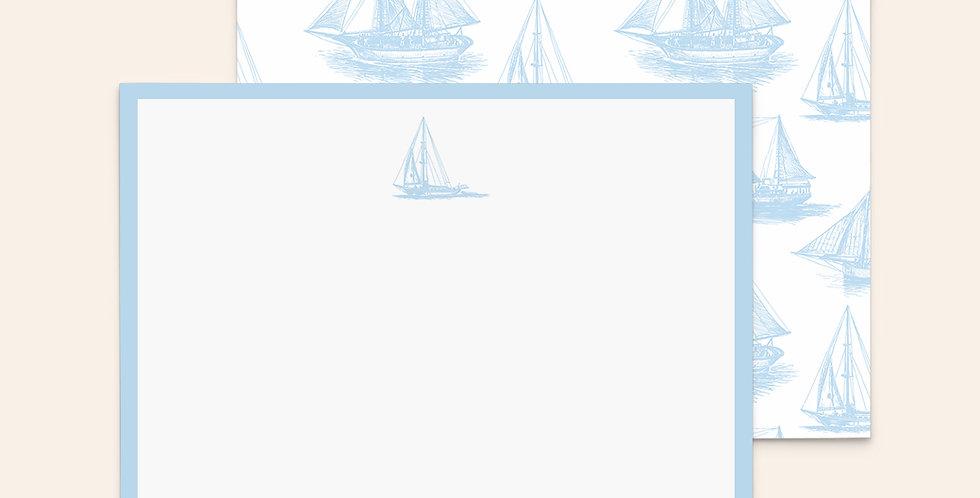 Vintage Sailboats • Blue