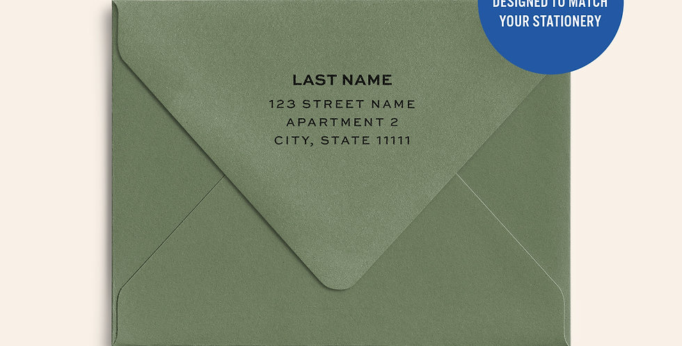 Return Address Printed Colored Envelope- Mid Green