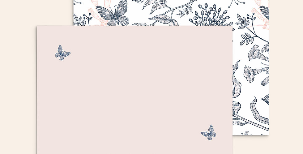 Butterfly Branches ▪ Pink + Navy