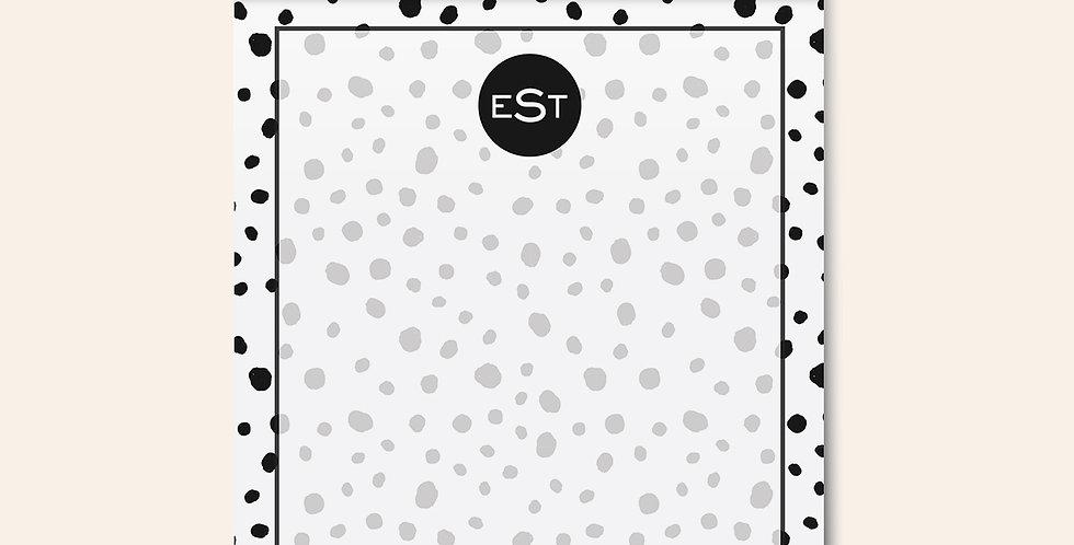 Painted Dots Monogram Notepad