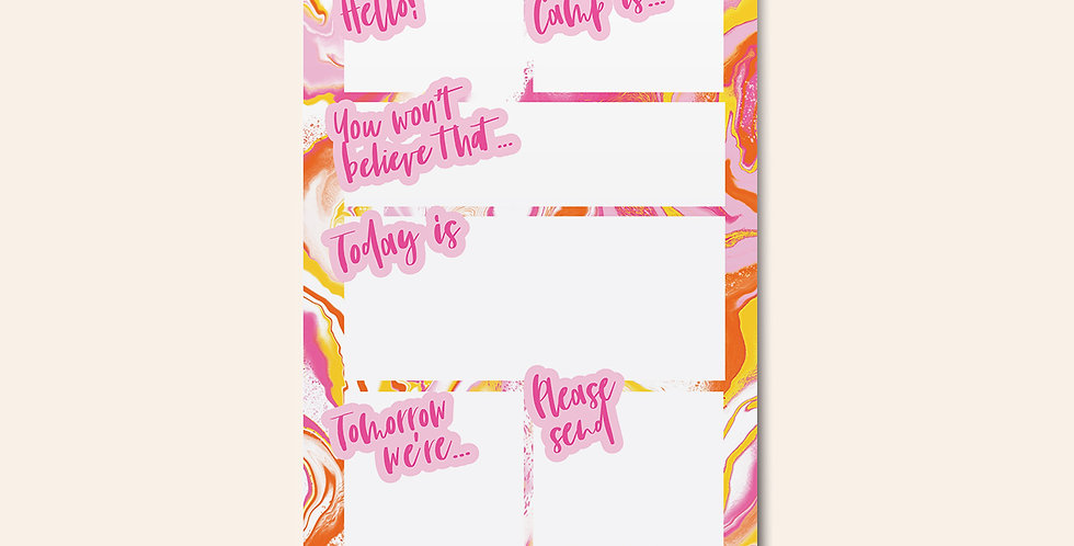 Camp Notepad • Neon Marble