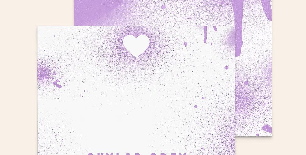 Spray Paint Heart • Purple