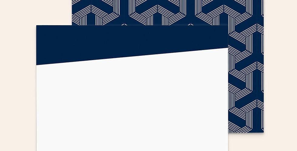 Geometric Arrows • Navy