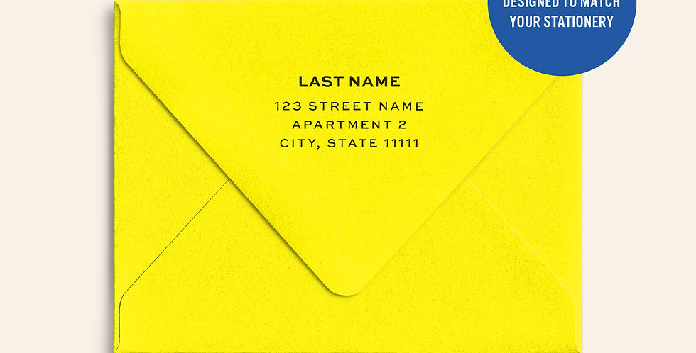 Return Address Printed Colored Envelope- Factory Yellow