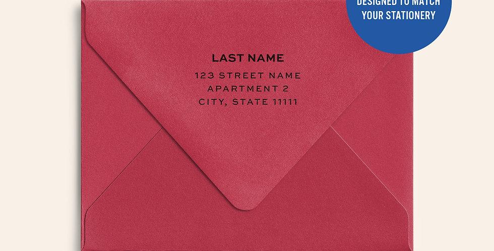 Return Address Printed Colored Envelope- Wild Cherry