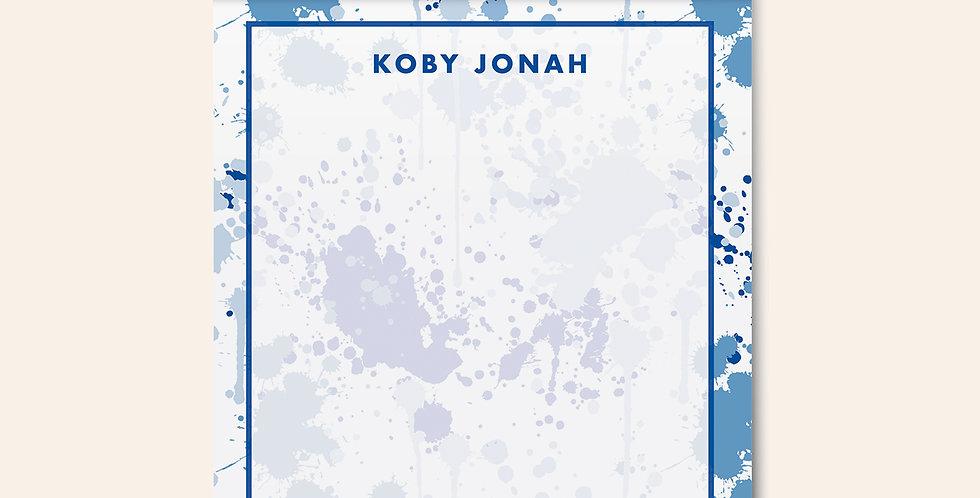Paint Splatter Notepad • Blue