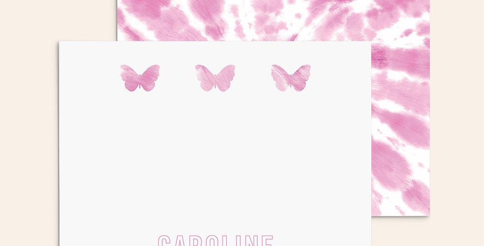 3 Butterflies ▪ Pink Tie Dye