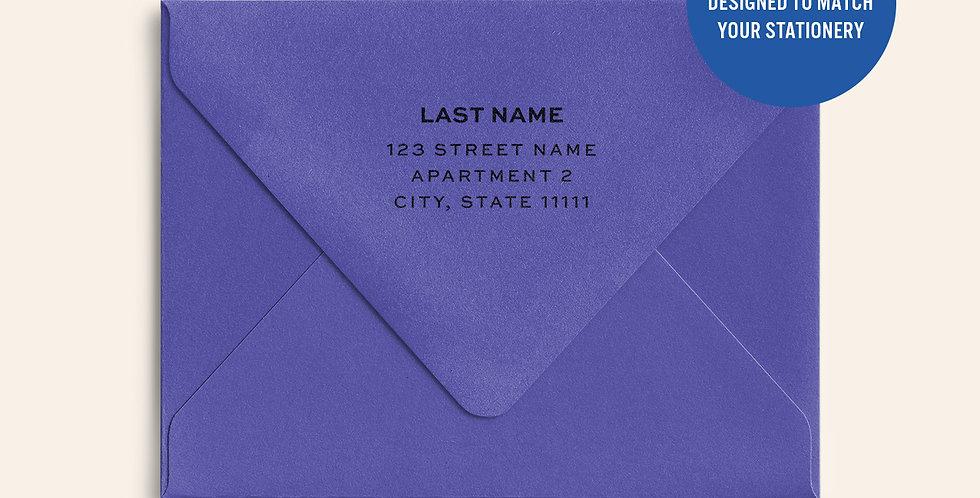 Return Address Printed Colored Envelope- Purple