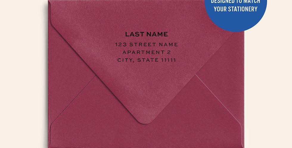 Return Address Printed Colored Envelope- Scarlet