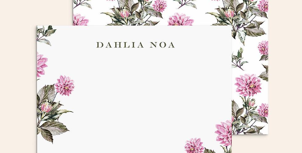 Watercolor Dahlias