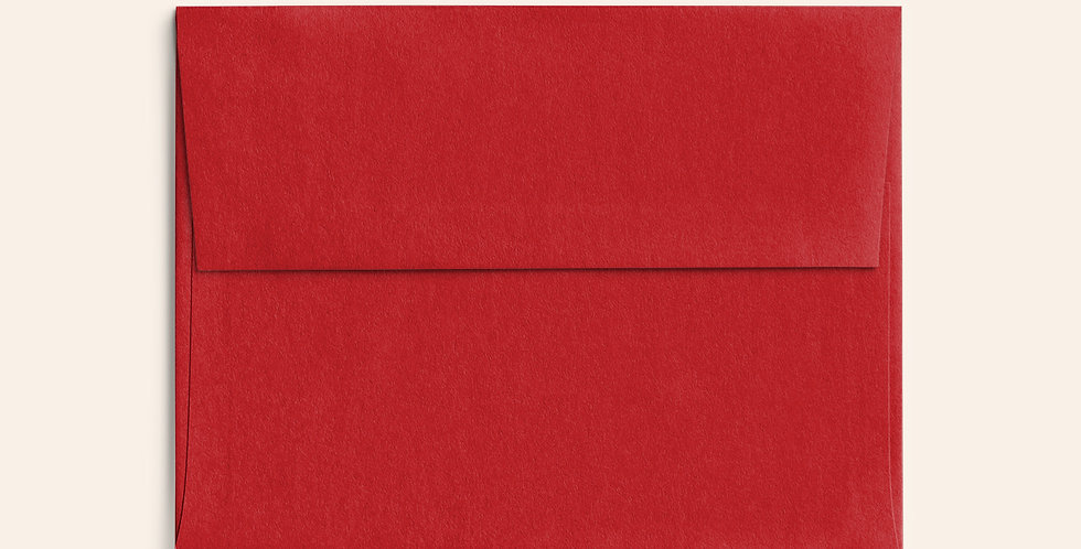 Colored Envelope - Vermillion
